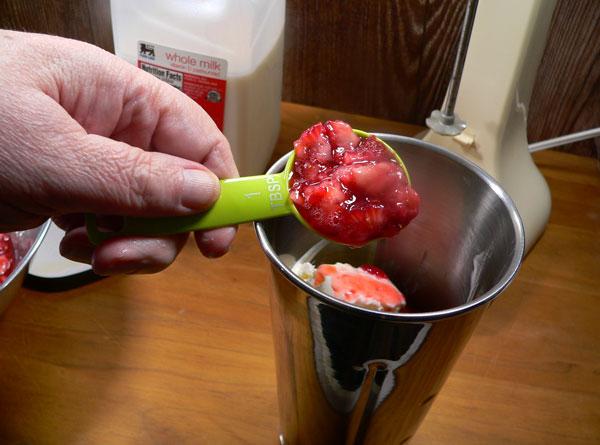 Strawberry Milkshake, add berries.