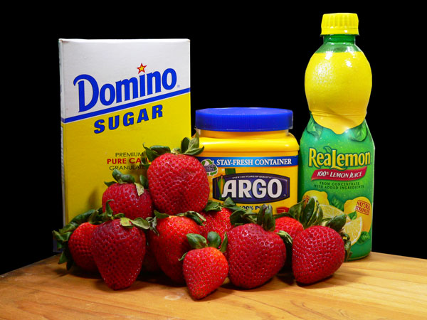 Strawberry Topping, ingredients.