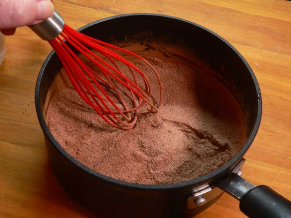 Chocolate & Biscuits, whisk together.