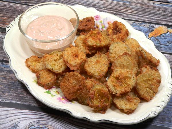Fried Pickle Chips, enjoy.