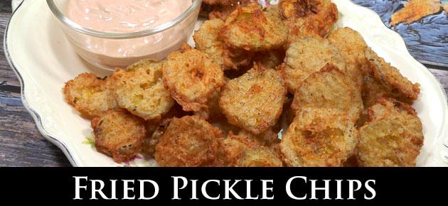Fried Pickle Chips, slider.