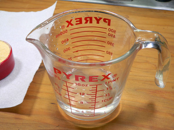 Lace Cornbread, add water.