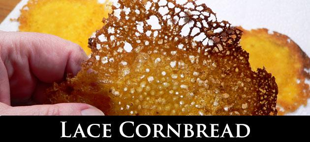 Lace Cornbread, slider.