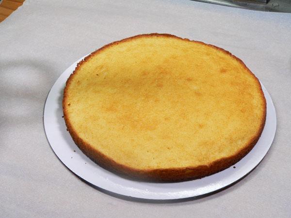Nine Layer Cake, add the fist layer.