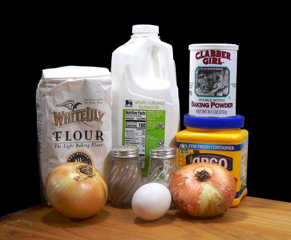 Onion Rings, ingredients.