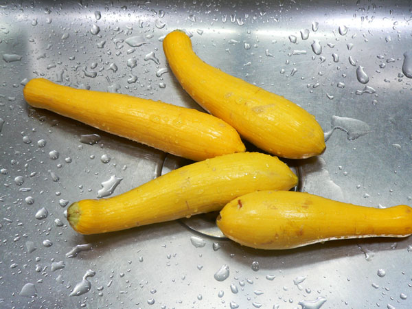Fried Squash, rinse.