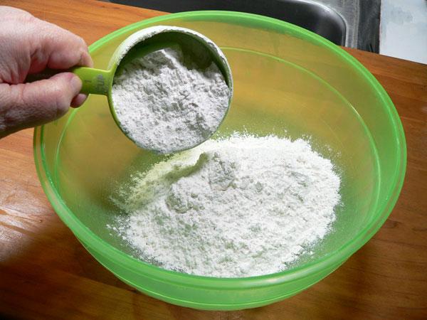 Pan Fried Spots, add flour.