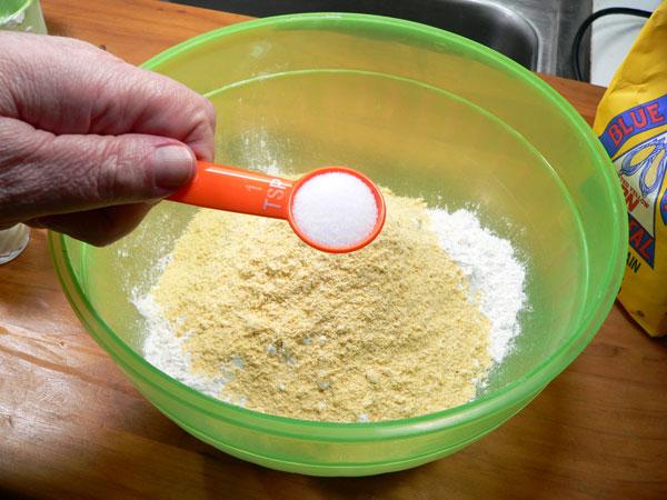 Pan Fried Spots, add salt.